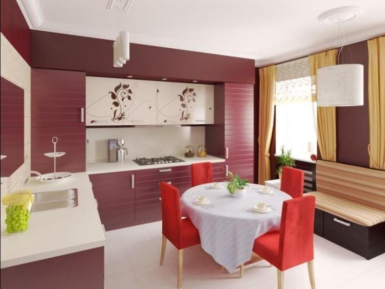runder esstisch in dunkelgrau und creme hochglanz kuche - boisholz, Esszimmer