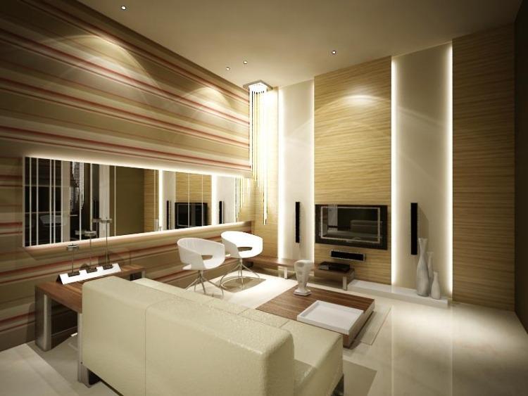LED Beleuchtung im Wohnzimmer  30 Ideen zur Planung