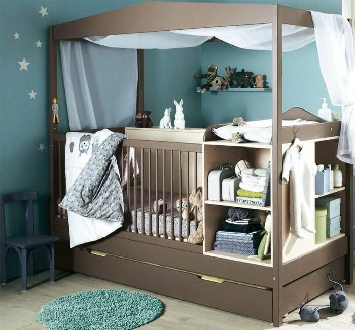 Himmel fr Babybett ein Trumeland im Kinderzimmer