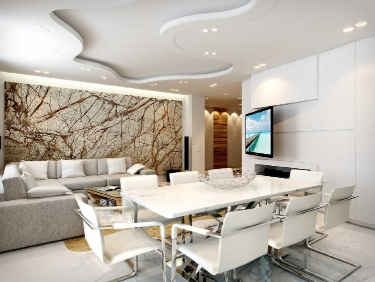 30 Wohnzimmerwnde Ideen Streichen und modern gestalten