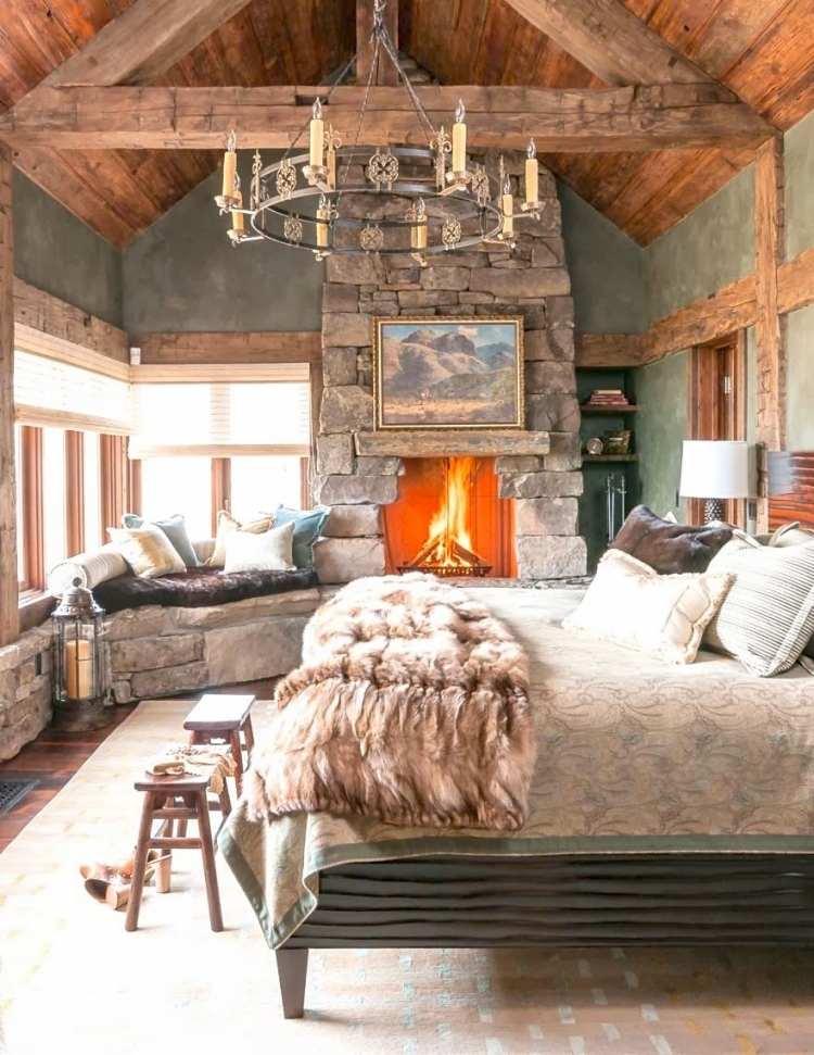 Lampen Landhausstil Holz   25 Romantische Schlafzimmer ...