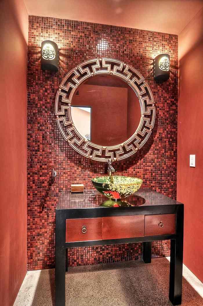 Rot im Badezimmer  21 Ideen mit intensiven Rottnen