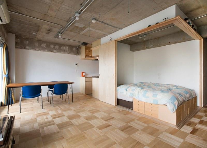 Ein Zimmer Wohnung als provisorische Unterbringung