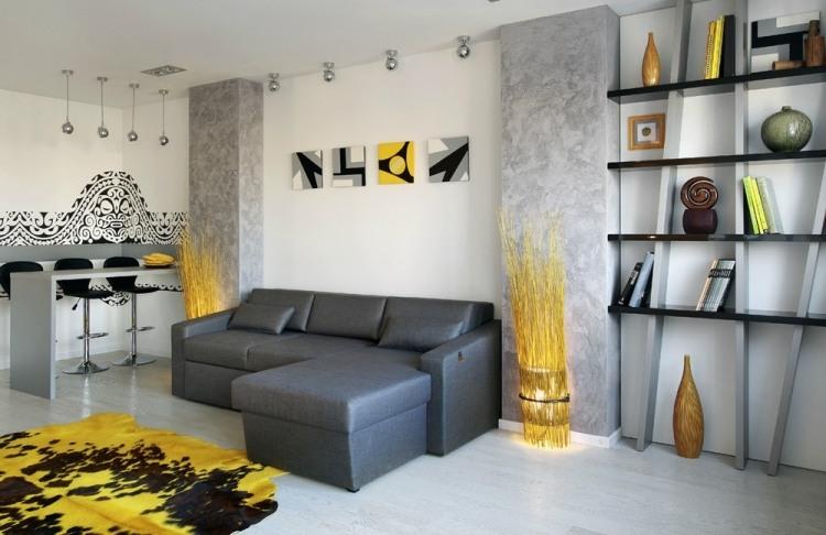 Moderne Wandfarben Fürs Jahr 2016: Welche Sind Die Neuen ... Wohnzimmer Ideen Gelb