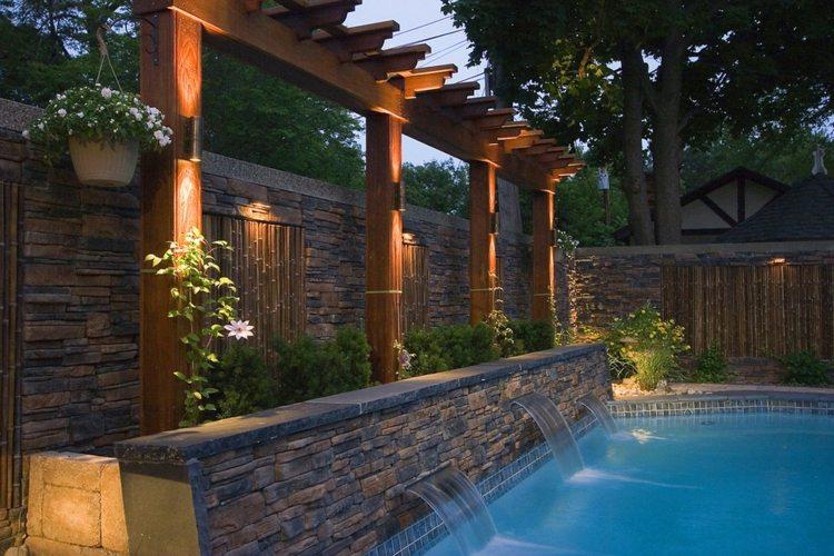 Design#5001631: Sichtschutz wand mauer vor einem pool | moregs. Diy Sichtschutz Fur Terrassen Pflanzen