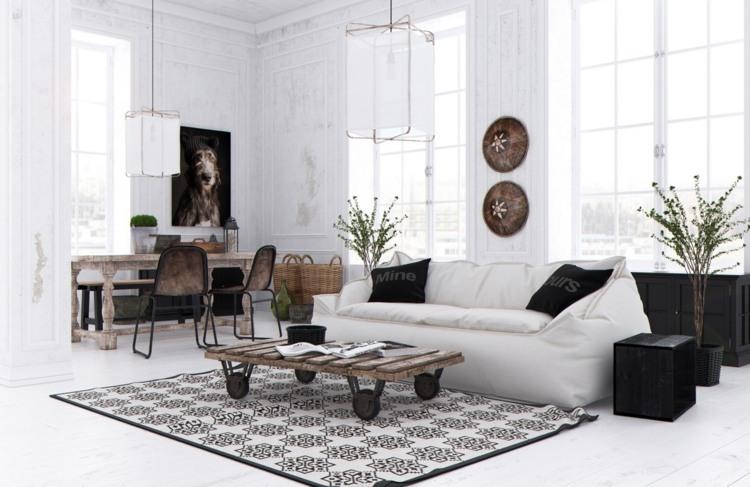 wohnzimmer einrichten rustikaler wohnstil - boisholz - Wohnzimmer Rustikal Einrichten