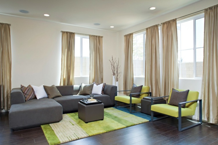 Grn im Wohnzimmer  25 Beispiele fr Farbgestaltung