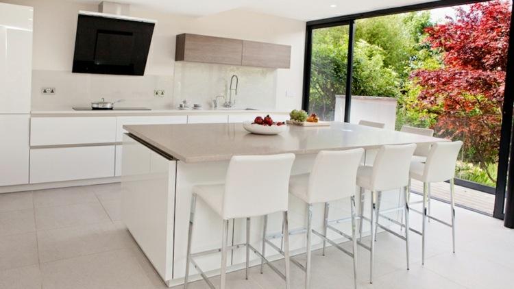 kuche kuchen ideen offene gestaltung l - boisholz - Gestaltung Küche