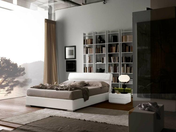 Regal Hinter Bett   Schlafzimmer Kuschelig Gestalten
