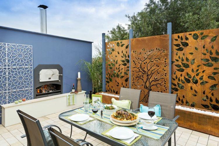 sichtschutz terrasse metall – motelindio, Hause deko