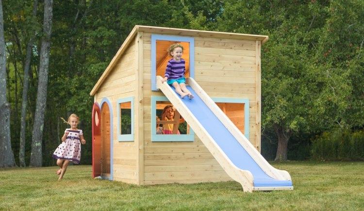 spielhaus gartenhaus kinderhaus mit rutsche playhouse - boisholz,