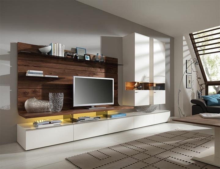 Wohnwand fr moderne Wohnzimmer  24 Schrankwnde