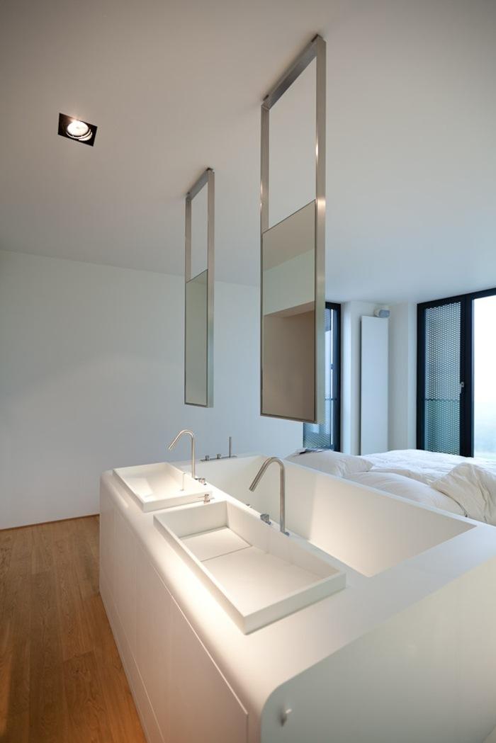Bett mit Badewanne  Ein originelles Design frs Schlafzimmer