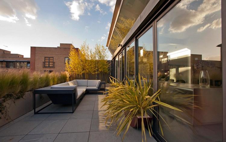 Dachterrasse gestalten 37 Ideen fr Pflanzen und Sichtschutz