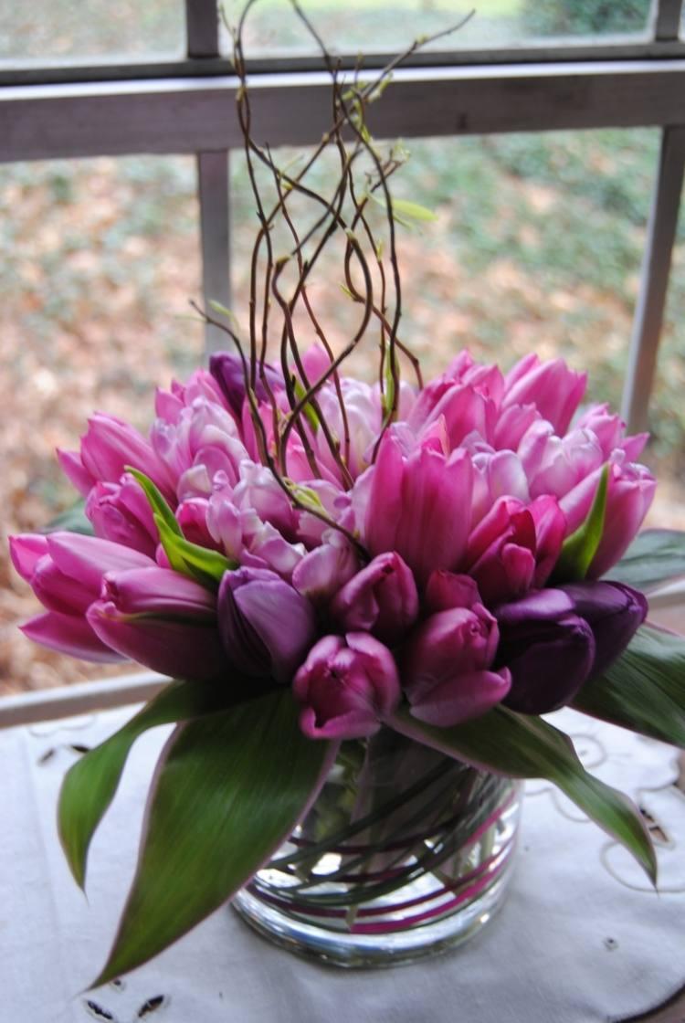 Frhlingsdeko im Glas  35 schne Ideen mit Blumen