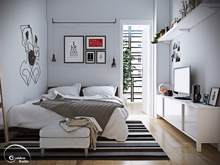 kleines schlafzimmer dekorieren - boisholz, Badezimmer