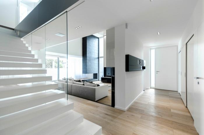 moderne deko wohnzimmer streichen mit gelb und grau l   ld ... - Moderne Hauser Innen Schlafzimmer