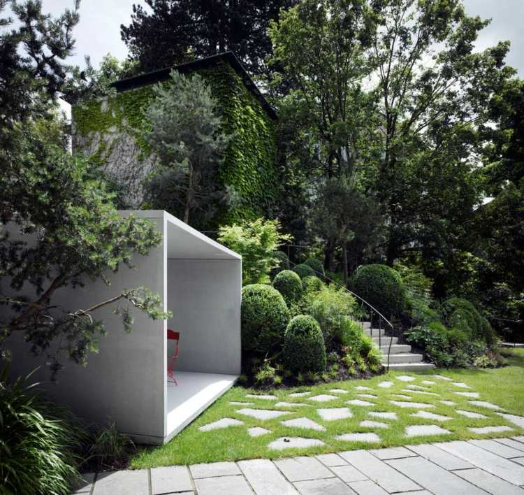 moderner garten gartenteich pflanzen - boisholz, Landschaftsbau