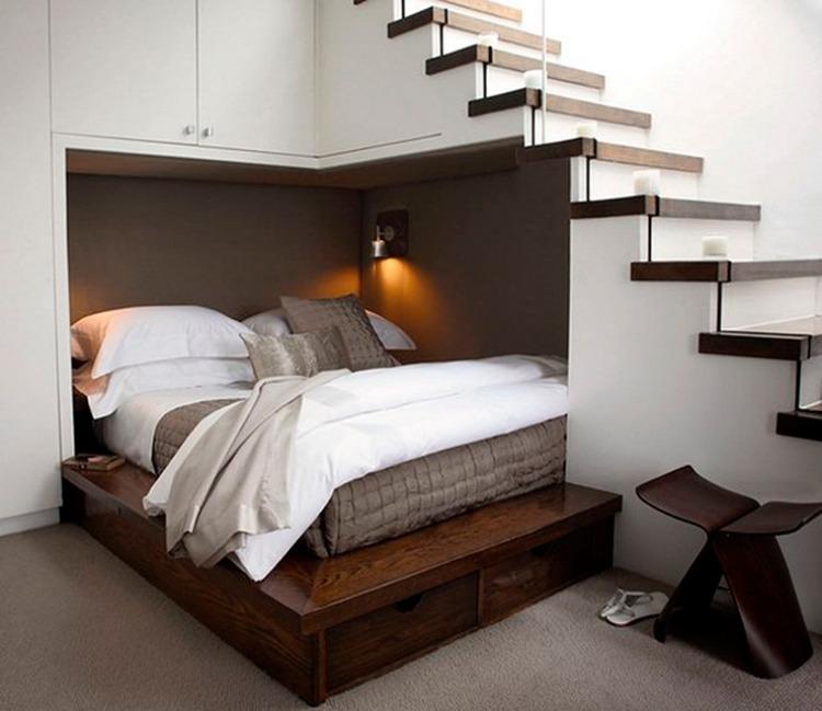 Ideen zur Schlafzimmer Gestaltung  Neuer Platz frs Bett