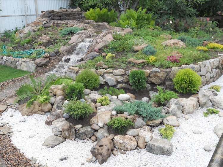 Ideen Gestaltung Steingarten