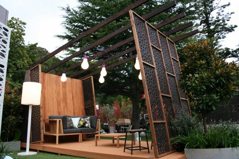 Moderner Sichtschutz Im Garten | Garingpics Terrassen Sichtschutz Deko Varianten