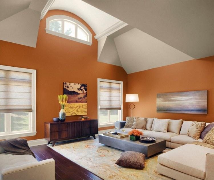 Wohnzimmer Wandfarben 2015 und 25 moderne Beispiele