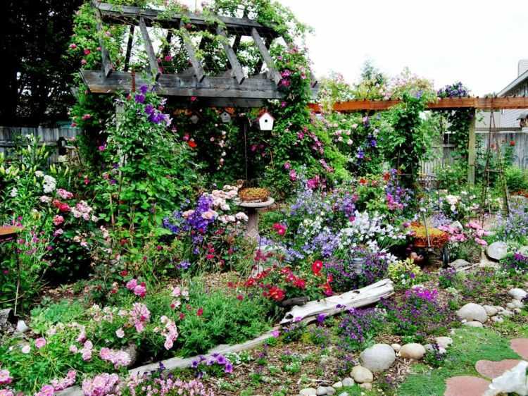 beeteinfassung bauen beetumrandung aus holz metall oder stein, Gartengerate ideen