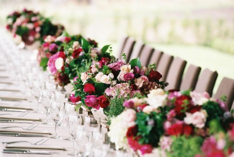 Deko fr die Hochzeit  15 traumhafte Ideen fr lange Tische