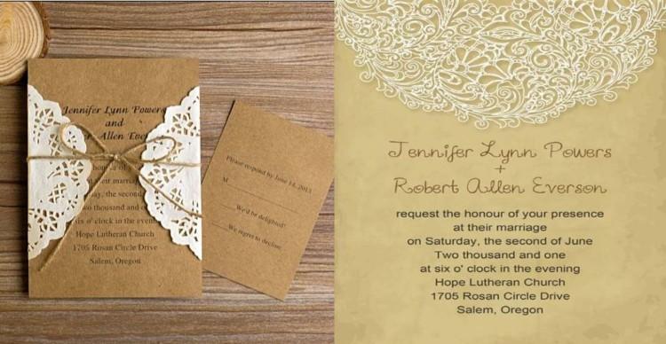 Einladung Hochzeit Vintage saisonal originell