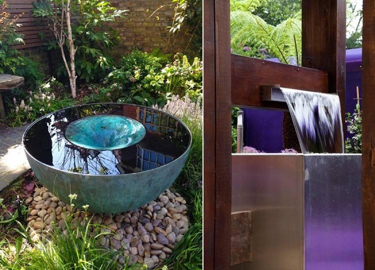Wasserspiele Im Garten Ideen Für Moderne Gartengestaltung ...