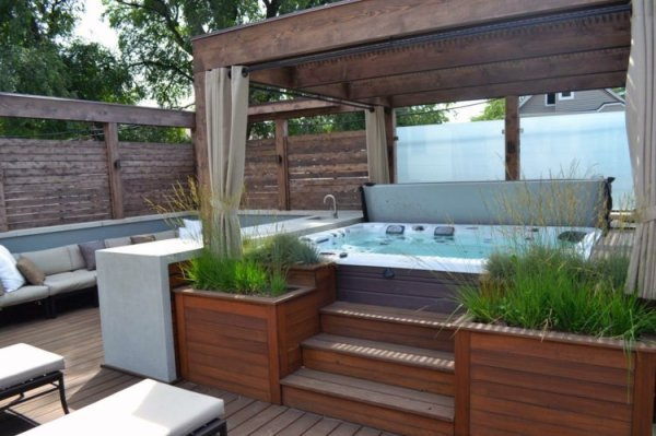 25 Hot Tub Landscaping With Planters Pictures And Ideas On Pro