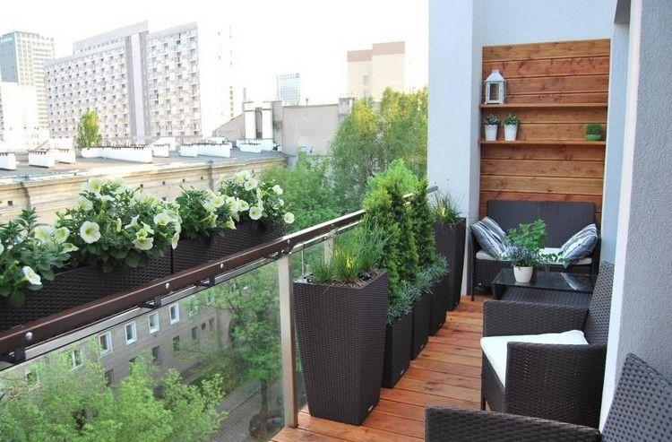 balkon sichtschutz holz jaccuzzi paravent glas gelaender tisch, Gartengerate ideen
