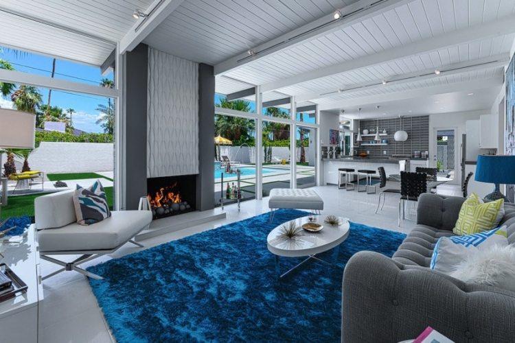 modernes wohnzimmer holz kamin raumteiler essbereich - boisholz, Wohnzimmer dekoo