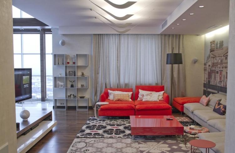 Wohnzimmer modern einrichten  Kalte oder warme Tne
