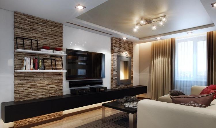 klein wohnzimmer einrichten brauntone dekoration on braun designs ... - Wohnzimmer Modern Einrichten Warme Tone