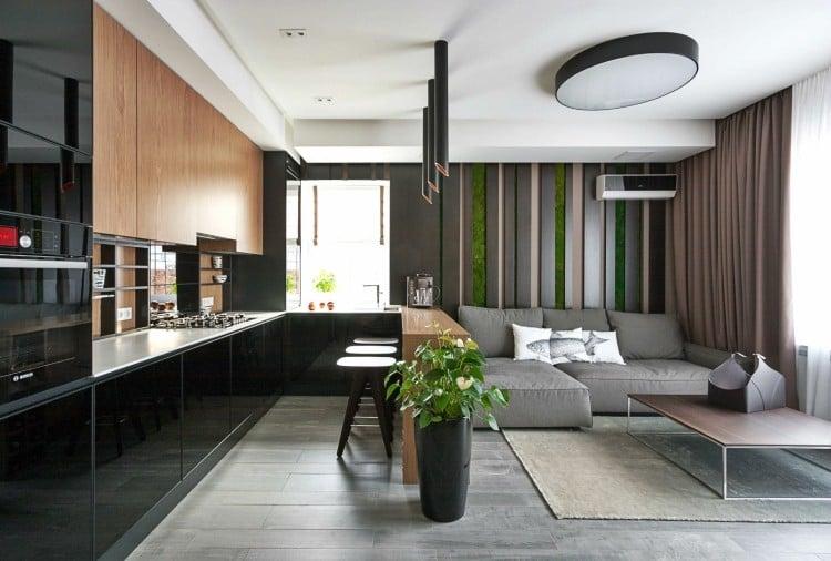 wohnzimmer grau lila - boisholz - Wohnzimmer Modern Einrichten Warme Tone