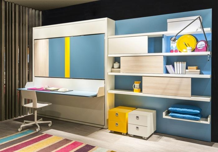 Kinderzimmermbel Ideen  Platzsparende Hochbetten