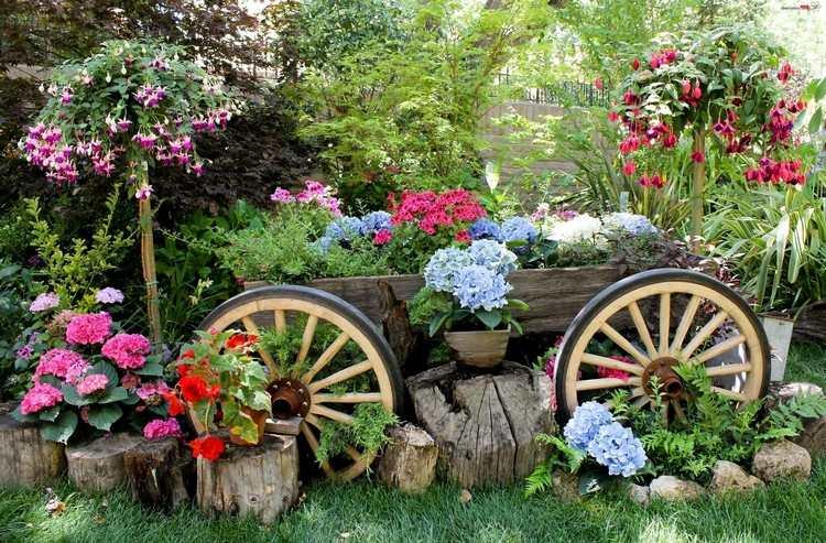 Gartendeko aus alten Sachen  31 kreative Ideen
