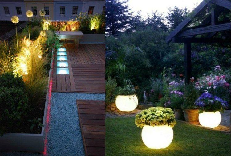 LED indirekte Beleuchtung im Garten 46 Ideen