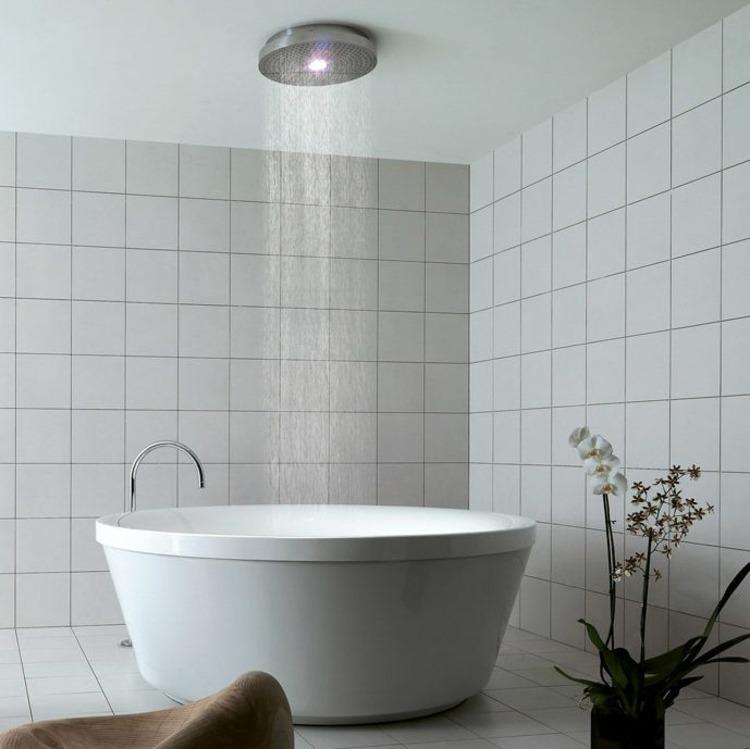 duschen sanit rkeramik badm bel armaturen dusche freistehend rund ... - Weie Badmbel