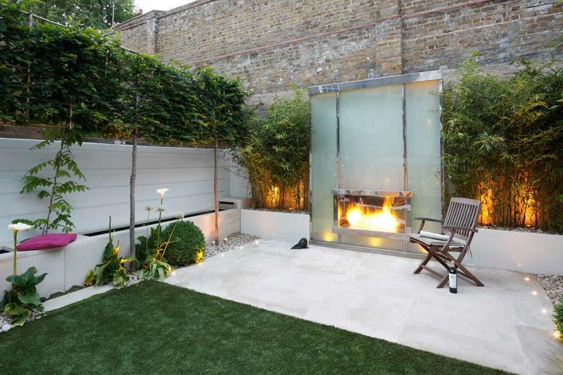 bambus kubel sichtschutz terrasse haus design ideen