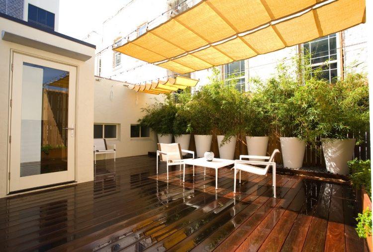 bambus im kübel als sichtschutz und deko auf der terrasse ... - Bambus Kubel Sichtschutz Terrasse
