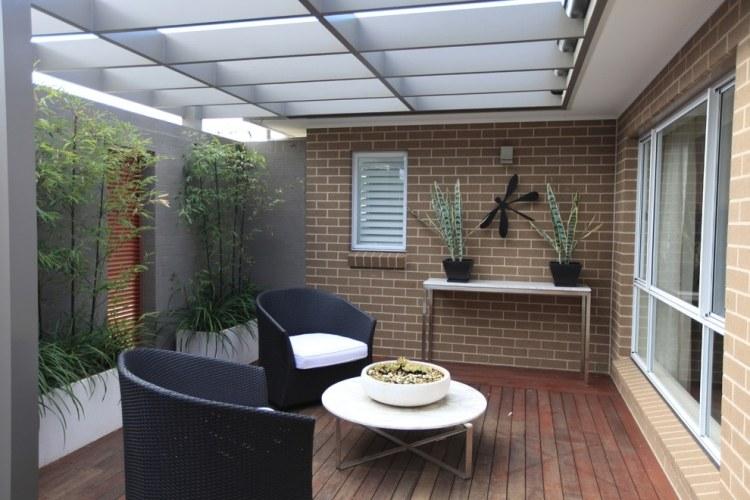 bambus kubel sichtschutz terrasse | haus design ideen - Bambus Kubel Sichtschutz Terrasse