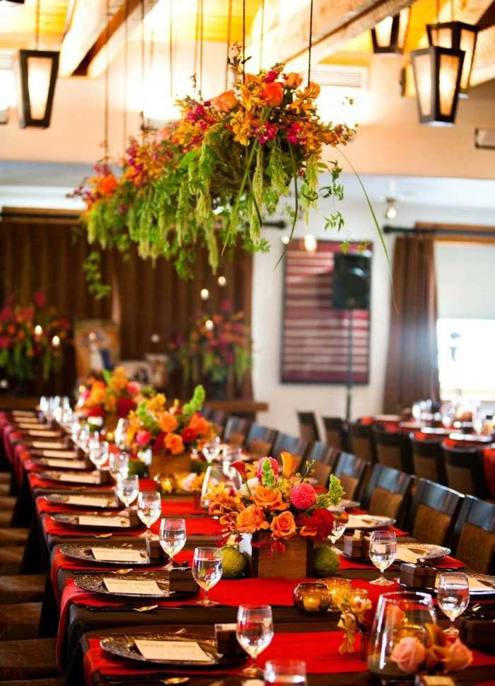 Blumen Deko zur Hochzeit  ihre tolle Wirkung beim Empfang