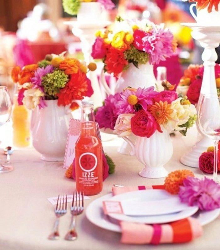 Tischdeko zur Hochzeit  Tolle farbenfrohe Gestaltungsideen