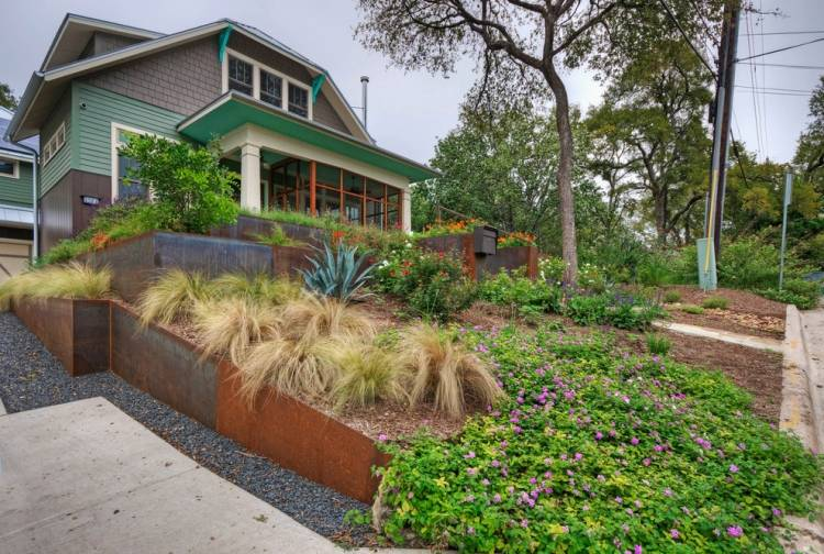 gartengestaltung pflege landschaftsbau cortenstahl garten ideen, Gartengestaltung