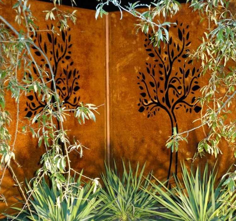 S Gartengestaltung Pflege Landschaftsbau Cortenstahl Sichtschutz Garten L