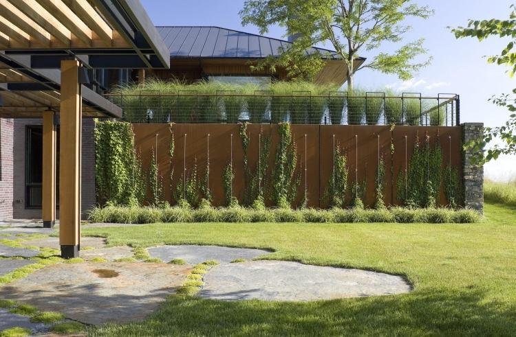 Cortenstahl Sichtschutz Fur Garten Ideen Und Beispiele Gartenarbeit Ideen