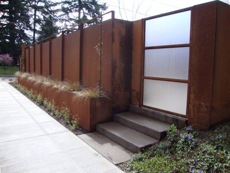 cortenstahl sichtschutz fuer garten 30 ideen und beispiele - boisholz, Gartengestaltung