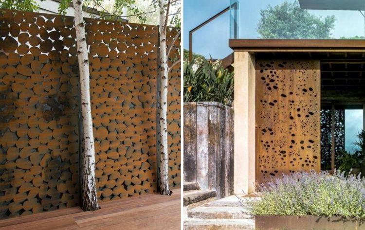 Sichtschutzwande Bambus Cortenstahl Sichtschutz Fur Garten Ideen Und Beispiele Sichtschutzwande Bambus Sichtschutzwande